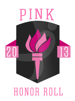 2013 Pink Honor Roll Badge